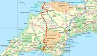 CycleActive Devon Coast to Coast Map
